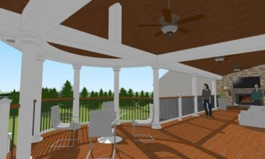 Watkins Architect provided architectural design services for a deck renovation in douglassville pa.